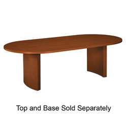 "Basyx by Hon Oval Conference Table Top, 96"" x 48"" x 1-1/8"", Mahogany"