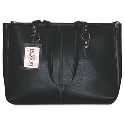 Buxton Madison Tote, Genuine Leather, 15 7/8w x 5d x 12 3/8h, Black