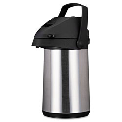 CoffeePro Vacuum Insulated Airpot, w/ Handle, 2.2 Liter, Stainless Steel