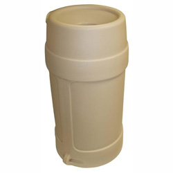 Continental Plastic Smoking Receptacle, 24 Gallon, Beige