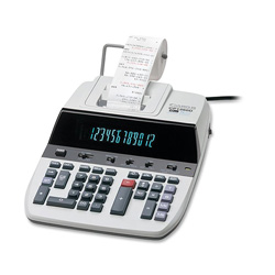 Canon CP1260D 2 Color Commercial Printing Calculator, 12 Digit, Tax/Business Functions
