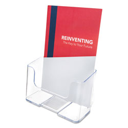 Deflecto Docuholder Clear Rigid Brochure Holder, 6-3/4w x 3-3/4d x 7-3/4h