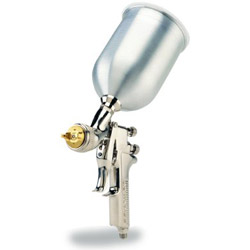 Devilbiss Gravity Feed HVLP Paint Gun w/1.3, 1.4, 1.5 mm tips and Aluminum Cup. Each