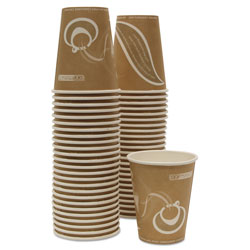 Eco-Products 8 Oz Hot Paper Cups, Orange, Pack of 50