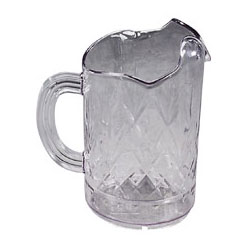 Tri-Pour Pitcher, 60 oz, Chip/Scratch/Break Resistant, Clear. Sold Individually