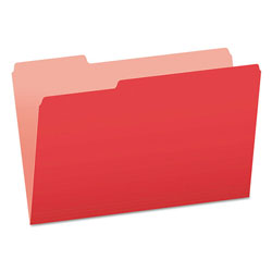 Pendaflex File Folders, Recycled, 2 Tone Red, Legal Size, Top Tab, 1/3 Cut, 100/Box