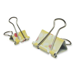 Baumgarten's Sunflower Binder Clips in a Display Box, 2 Sizes