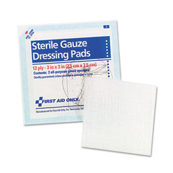 "First Aid Only Gauze Pads, 3"" x 3"", 5-2Pack/Box"