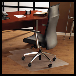 Floortex ClearTex Chair Mat For Hard Floors, 47w x 35h, Clear