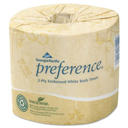 Georgia Pacific Embossed Bath Tissue, 2 Ply, White