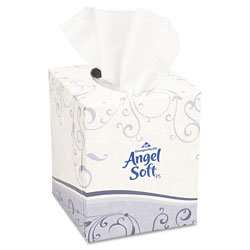 Angel Soft Premium Facial Tissue, Cube Box, 96 Sheets/Box, White