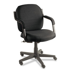 Global Commerce Series Low Back Swivel Task Chair, Black Fabric