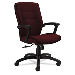 Global Synopsis Series Task Chair, Cabernet/Black Fabric