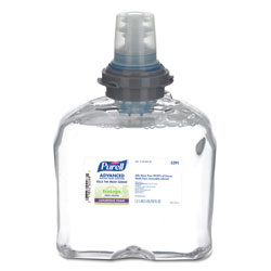 Gojo TFX Green Certified Instant Hand Sanitizer Foam Refill, 1200-ml, Clear. Each