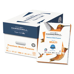 Hammermill Premium 20lb White Multipurpose Paper, 8.5 x 11, 10 Reams of 500 Sheets