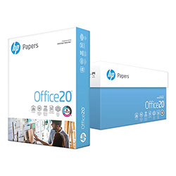 HP White Copy Paper, 8 1/2 x 11 (Letter), 92 Bright, 20 lb, 500 Sheets Per Ream, Case of 10 Reams