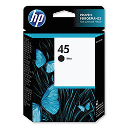 HP 45 Black Inkjet Cartridge, Model 51645A