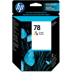 HP 78 Cyan / Magenta / Yellow Inkjet Cartridge, Model C6578DN140, 450 Page Yield