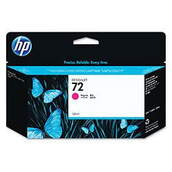 HP 72 Magenta Inkjet Cartridge, Model C9372A