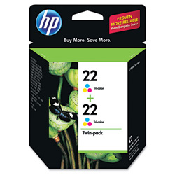 HP Cyan / Magenta / Yellow Inkjet Cartridge, Model CC580FN, 140 Page Yield