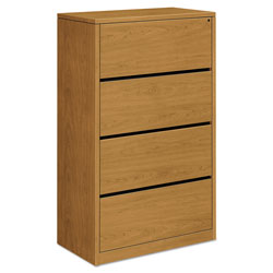 "Hon 10516 4-Drawer Lateral File, 36"" x 20"" x 59-1/8"", Harvest"