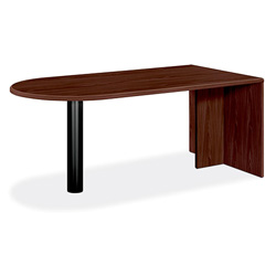 "Hon 10700 Series ""U"" Grouping Peninsula Table with End Panel, Mahogany, 72 x 36"