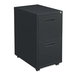 "Hon 1600 Series File Pedestal File, 2 ""M"" Pull File Drawers, 20d, Black"
