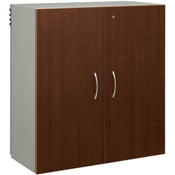 "Hon Storage Cabinet, 3High, 2Hinged, 36""x18""x38-1/4"", Brown"