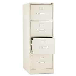 Hon 510 Series Four-Drawer Full-Suspension File, Legal, 52h x25d, Putty