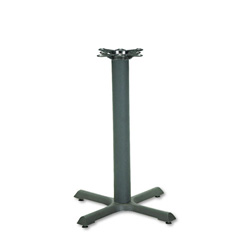 "Hon Single Column Cast Iron X Pedestal Base for 30"" Round Table Top, Black"