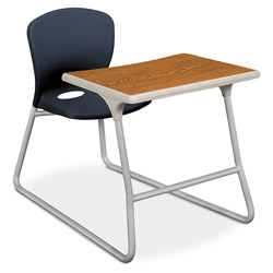 Hon Accomplish CL71HPB Dual Entry Combo Chair Desk with Painted Legs