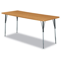 Hon Rectangular Activity Table Top, 72w x 30d, Harvest