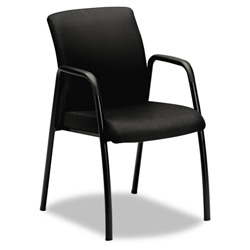 Hon Ignition Series Guest Chair with Arms, Black Fabric Upholstery