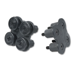 Hon Simplicity II Systems Partition Panel Cross Connector, Black