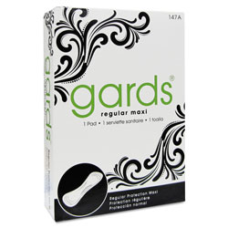 Guards® 4-147A Maxi Pads Sanitary Napkins, #4