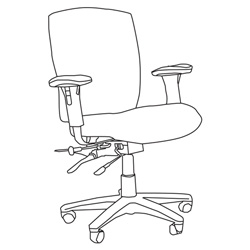 "High Point Furniture Cougar 627 Management Chair with Dual Function Mechanism - 27"" x 25.5"" x 41"" - Fabric Sand Dollar Seat"