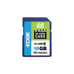 Edge Sdhc Hd Video Cards - Flash Memory Card - 16 Gb - Sdhc. Sold Individually Picture