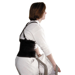 "Impact Deluxe Back Support, 7"" Back Panel, Single Closure w/Suspenders, Large, Black"