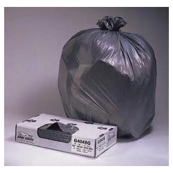 "Jaguar Plastics Super Heavy-Duty Black Flat-Bottom Trash Bags, 33 Gallon, 1.1 Mil, 33"" X 39"", Case of 150"