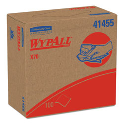 WypAll® X70 Workhorse Cleaning Wipes, White, Case of 10