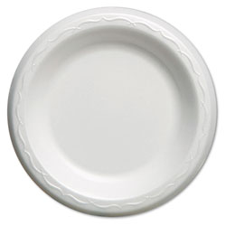 "Genpak Elite 6""Laminated Plate, White"
