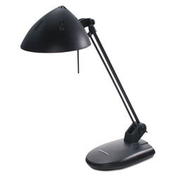 "Ledu High Output Halogen Desk Lamp, 17"" Reach, Matte Black"