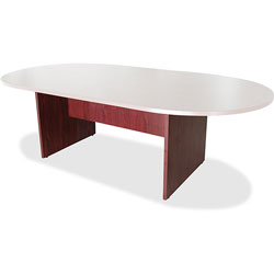 "Lorell Conference Table Base, 28""H, Mahogany"