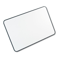 Magna Visual White on White Magnetic Planning Board, 1 x 1 Faint Grid, 36w x 24h, Black Frame