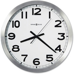 Howard Miller Clock Round Wall Clock, 15-3/4in, 1 AA Battery