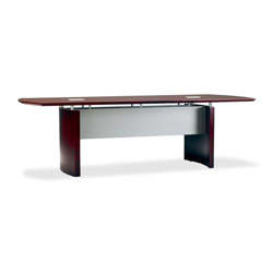 "Mayline Napoli NC10 Conference Table - 10 ft Width x 48"" Depth x 29.5"" Height - Sierra Cherry"