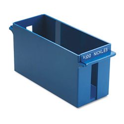 MMF Ind. Porta Count® Extra Capacity Rolled Coin Storage Tray, Holds $100/Nickels, Blue