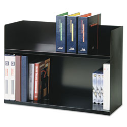 "MMF Two Tier Book Rack, 29 1/8""x10 3/8""x20"", Black"