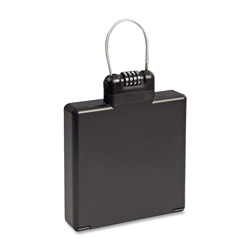 MMF Mobile Security ICASE with Liner Combination Lock, 9.92 x 1.5 x 5.91 Inches, Black