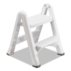 Rubbermaid White Folding Two Step Step Stool